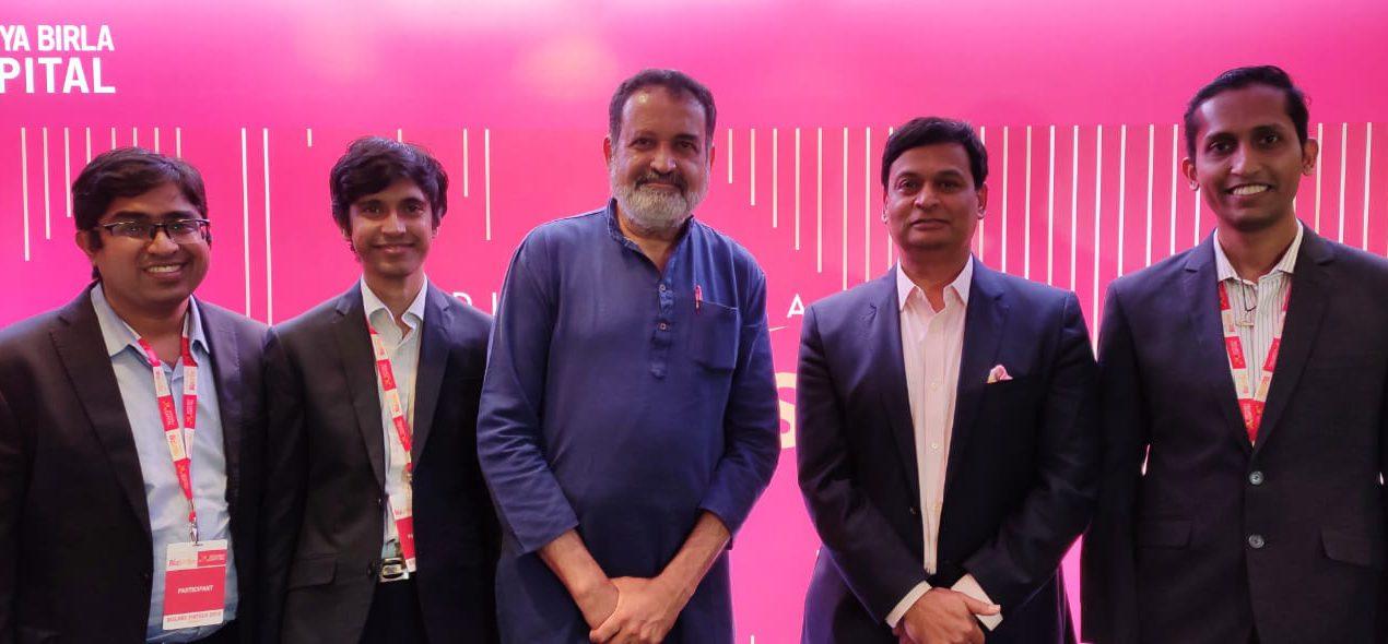 Aditya Birla BizLabs winner SheetKraft felicitated by Padma Shri Mohandas Pai